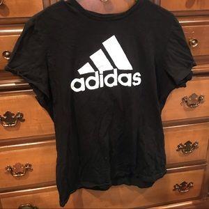 Addidas Logo Black & White B&W T-Shirt